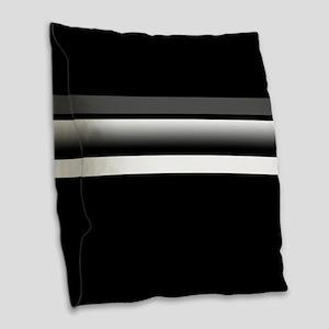Team Colors2...Black,gray and Burlap Throw Pillow