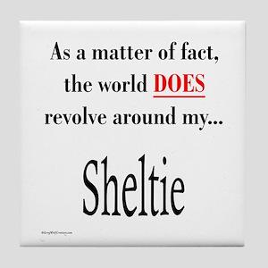 Sheltie World Tile Coaster