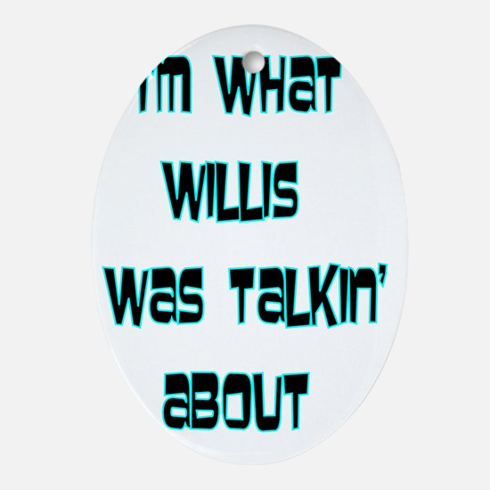 WILLIS Oval Ornament