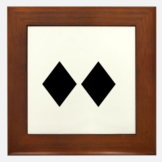 Awesome_Ski_Co_wht Framed Tile