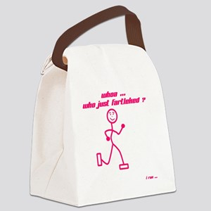 WhoaWhoJustFartleked_Pink Canvas Lunch Bag
