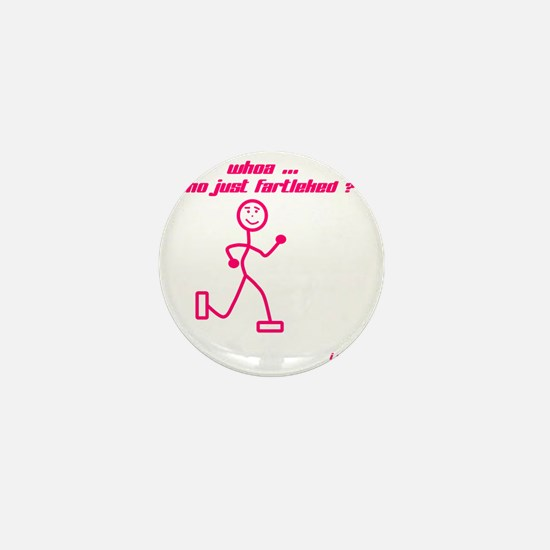 WhoaWhoJustFartleked_Pink Mini Button