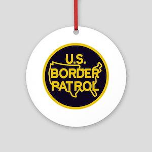 Border_Patrol Round Ornament