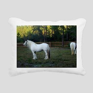 Gypsy Vanner Horses Peta Rectangular Canvas Pillow