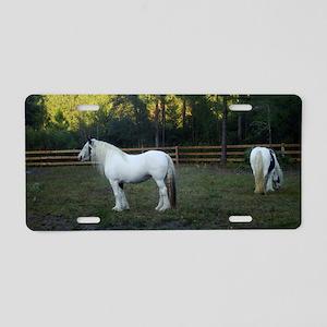 Gypsy Vanner Horses Petal   Aluminum License Plate