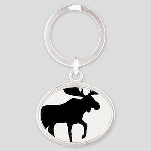 moose5in1ipadcase2 Oval Keychain
