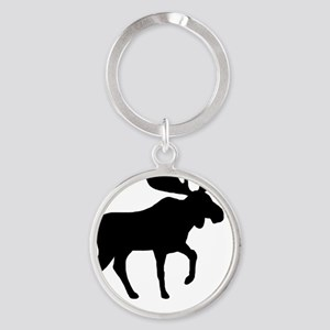 moose5in1ipadcase2 Round Keychain
