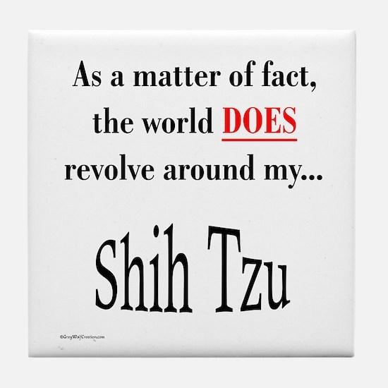 Shih Tzu World Tile Coaster