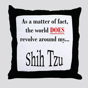 Shih Tzu World Throw Pillow