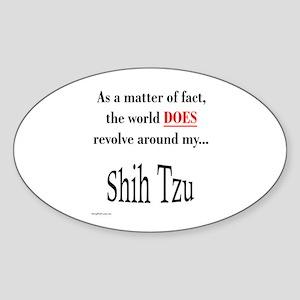 Shih Tzu World Oval Sticker
