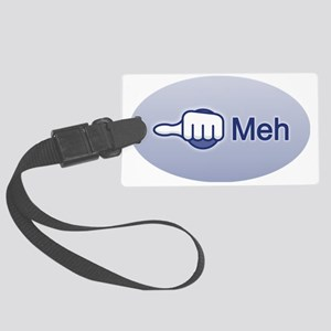 MehOval2 Large Luggage Tag