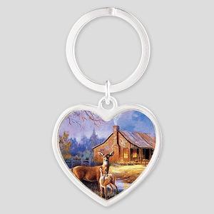 Oh-Deer Heart Keychain