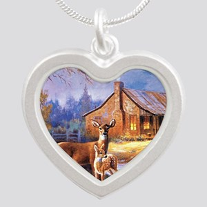 Oh-Deer Silver Heart Necklace