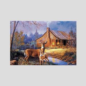Oh-Deer Rectangle Magnet
