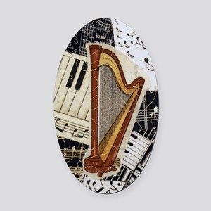 harp-5432 Oval Car Magnet