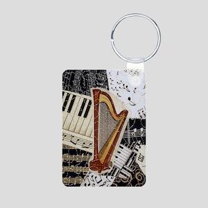 harp-5432 Aluminum Photo Keychain