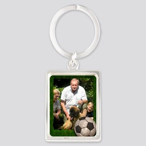 Your photo in a Soccer Frame Portrait Keychain