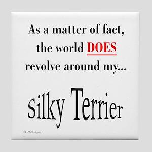 Silky World Tile Coaster