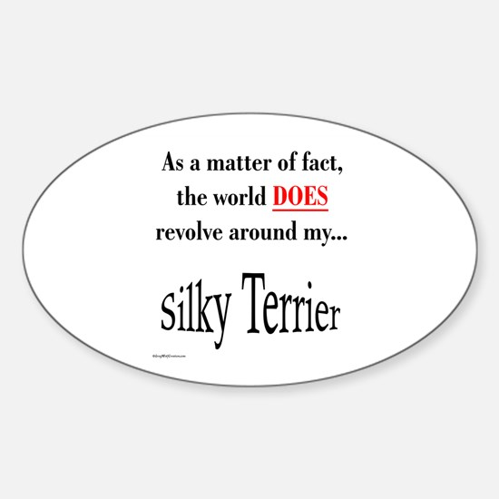 Silky World Oval Decal