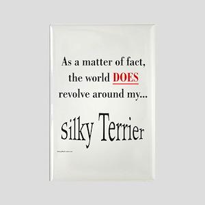 Silky World Rectangle Magnet