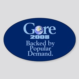 BACKED BY POPULAR DEMAND Oval Sticker