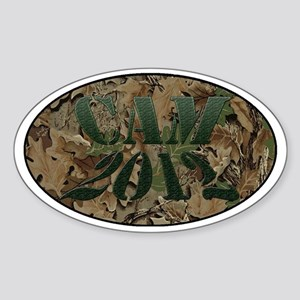 camo white Sticker (Oval)