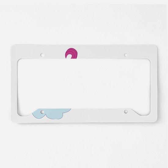 farting_unicorn (2) License Plate Holder