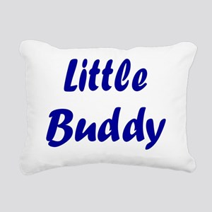 little  buddy navy Rectangular Canvas Pillow