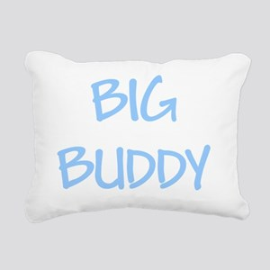 bigl  buddy blue Rectangular Canvas Pillow