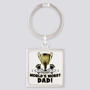 Worst Dad copy Square Keychain