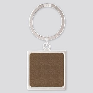 Brown Crosses Square Keychain