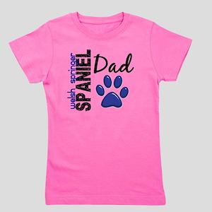 D Welsh Springer Spaniel Dad 2 Girl's Tee