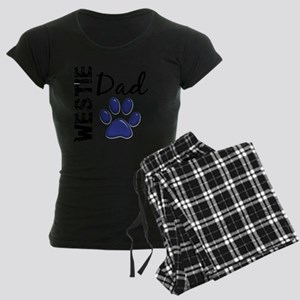 D Westie Dad 2 Women's Dark Pajamas