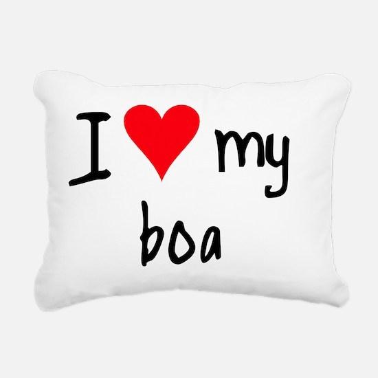 iheartboa Rectangular Canvas Pillow
