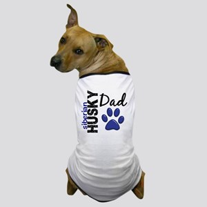 D Siberian Husky Dad 2 Dog T-Shirt