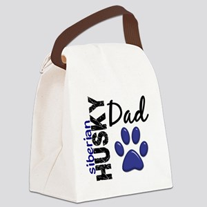 D Siberian Husky Dad 2 Canvas Lunch Bag