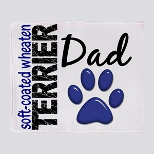 D Soft-Coated Wheaten Terrier Dad 2 Throw Blanket