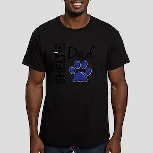 D Sheltie Dad 2 Men's Fitted T-Shirt (dark)