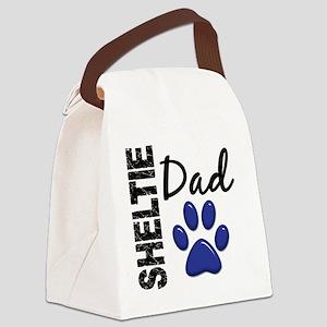 D Sheltie Dad 2 Canvas Lunch Bag