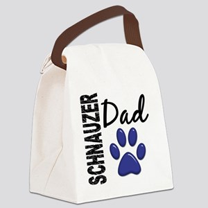 D Schnauzer Dad 2 Canvas Lunch Bag
