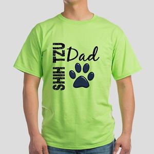D Shih Tzu Dad 2 Green T-Shirt