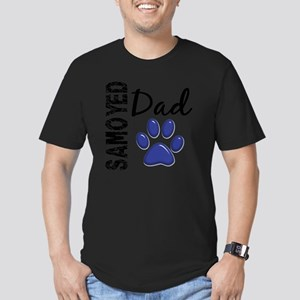 D Samoyed Dad 2 Men's Fitted T-Shirt (dark)