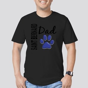 D Saint Bernard Dad 2 Men's Fitted T-Shirt (dark)