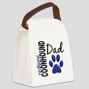 D Redbone Coonhound Dad 2 Canvas Lunch Bag