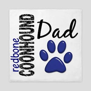 D Redbone Coonhound Dad 2 Queen Duvet