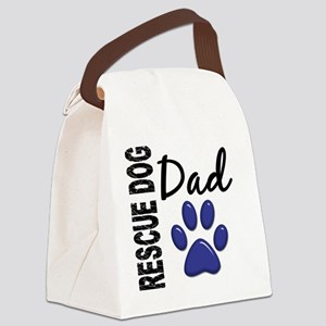 D Rescue Dog Dad 2 Canvas Lunch Bag