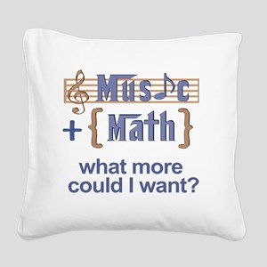 music-math3 Square Canvas Pillow