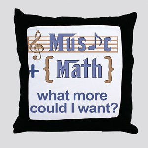 music-math3 Throw Pillow