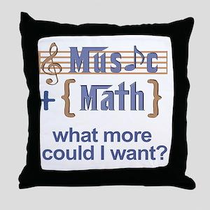 music-math3 Throw Pillow
