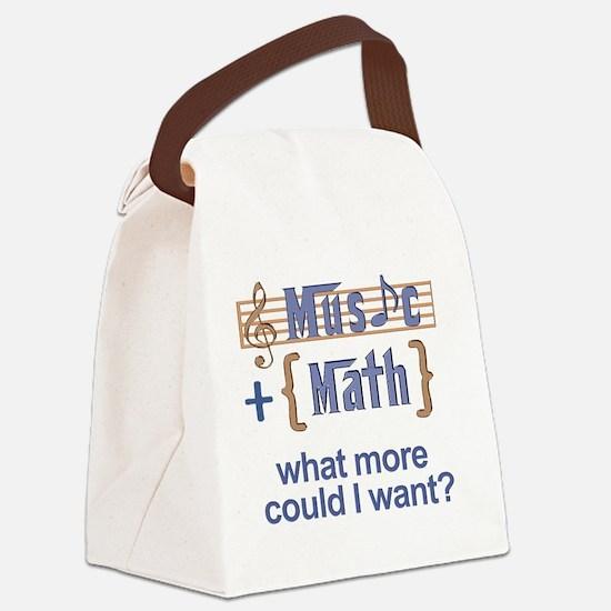 music-math3 Canvas Lunch Bag